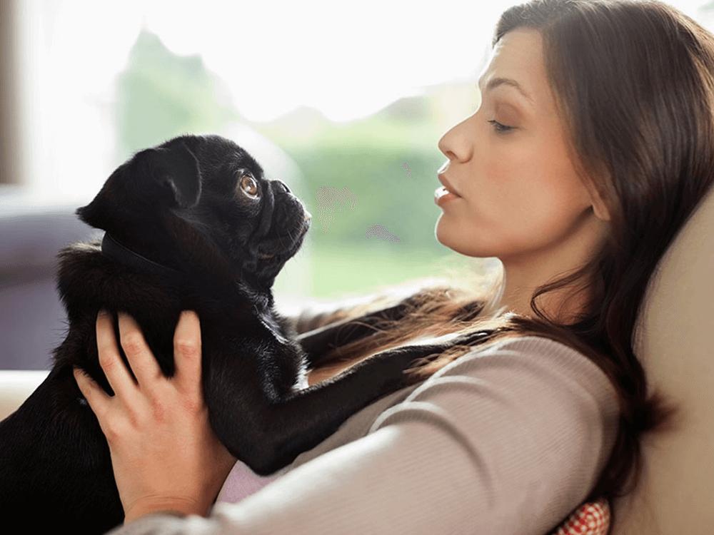 woman doing dog talk