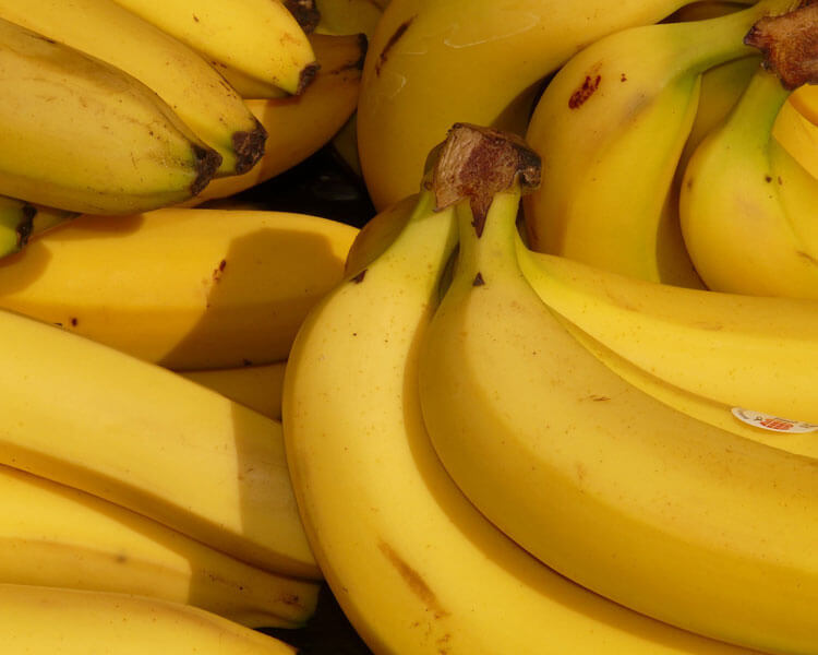 bananas, which are good for dogs