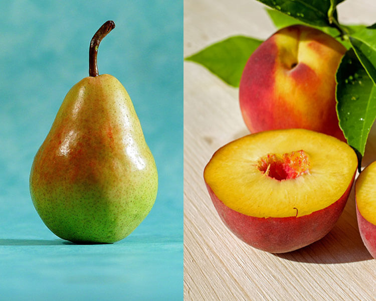 peach and pear which are great for dogs