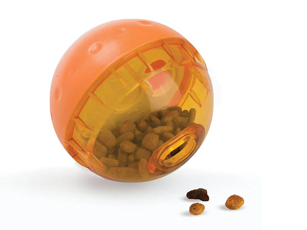 Treat dispensing toy, made to amused dogs and puppies