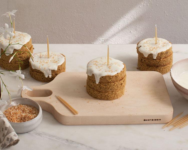 a homemade grain-free mini dog cake
