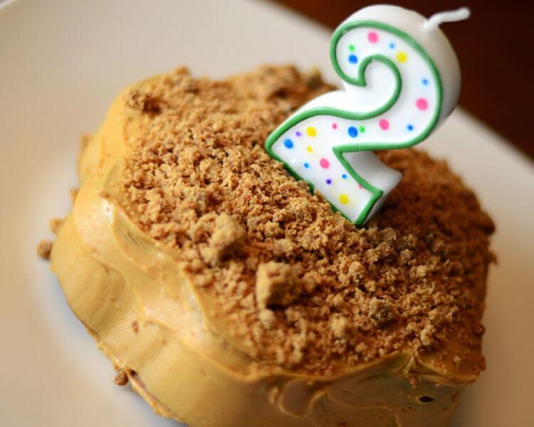 a healthy homemade dog birthday cake