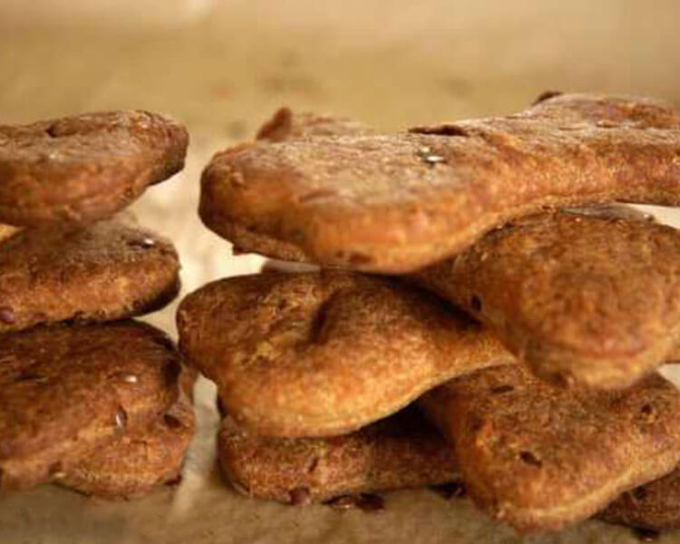 Homemade Flax Seed Dog Biscuit