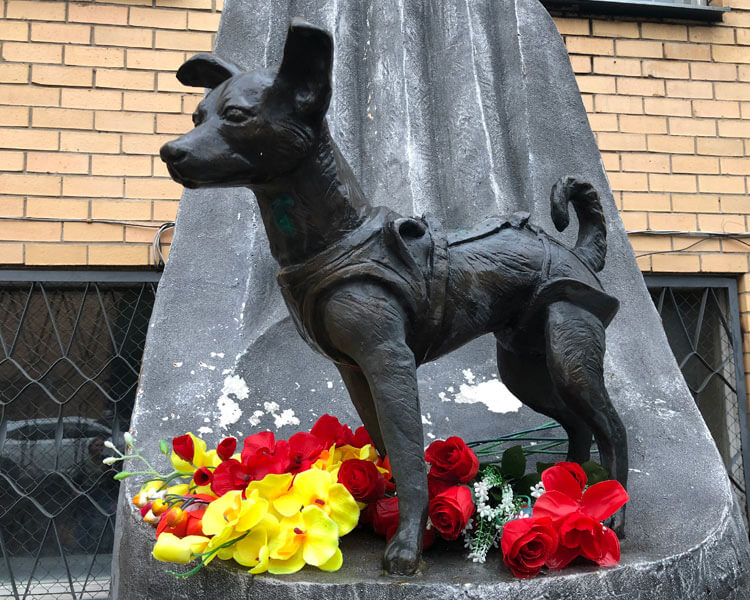 laikas monument honoured in moscow