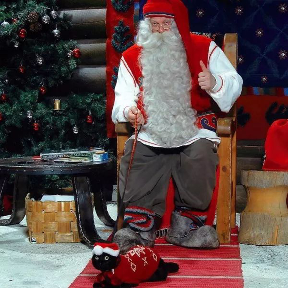 noro went to Finland to find Santa Claus